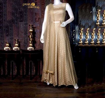 Prem's Collections Party Wear Silk Gown - 180501020006
