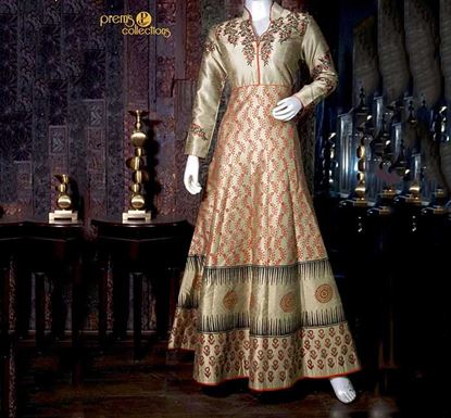 Prem's Collections Party Wear Silk Gown - 170900060009