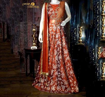 Prem's Collections Party Wear Silk Gown – 180400040078