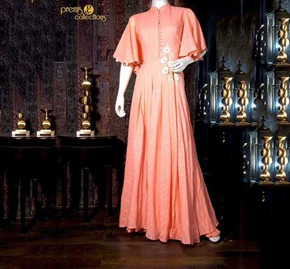 Prem's Collections Party Wear Silk Gown – 180501060004
