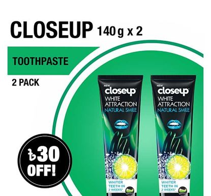 Closeup Toothpaste White Attraction Natural Smile 140gX2 Multipack