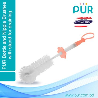 Picture of PUR Bottle and Nipple Brushes (Orange) - (6101)