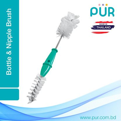 Picture of Pur 2 in 1 Bottle and Nipple Brush (Paste) – (6106)