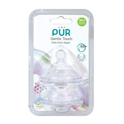 Picture of PUR Gentle Touch Wide Neck Nipple Size M-2pk (9822)