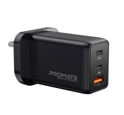 PROMATE GanPort3-65PD 65W Power Delivery GaNFast™ Charging Adapter