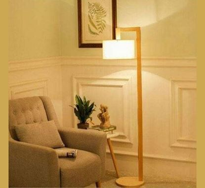 Canadian Pine Wood Stand Lamp - PL502