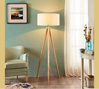 Canadian Pine Wood Stand Lamp - PL503