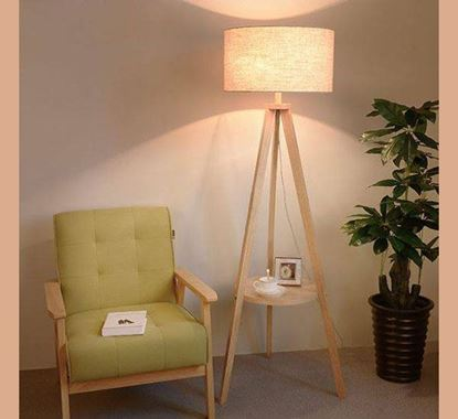Canadian Pine Wood Stand Lamp - PL511