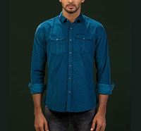 All-Over Printed Classic Corduroy Shirt RN-MEH-AW20-SM12