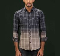 Shaded Check Shirt Charcoal RN-FOY-AW20-SM23