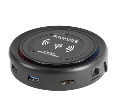 PROMATE CenterHub All-in-One USB-C™ Hub with 100W Power Delivery