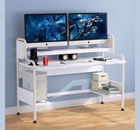Fitment Craft Computer Desk with Hutch - TV2-004