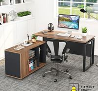 Fitment Craft L-Shaped Executive Desk TV4-00101