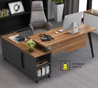 Fitment Craft L-Shaped Large Executive Office Desk TV4-005
