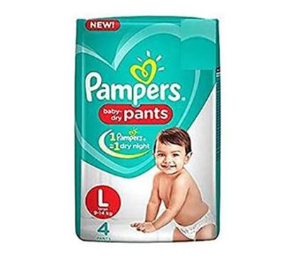 Pampers Pant Large 4s (9-14 KG) - PM0003