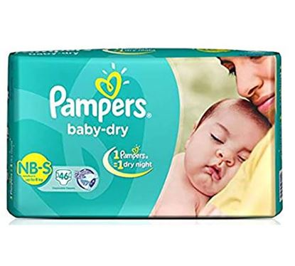 Pampers Tapes Diaper Small 46s (Value Pack) Upto 8 KG - PM0098