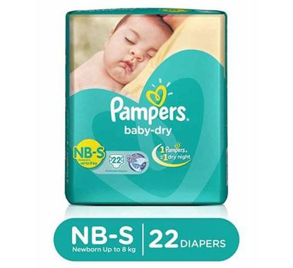 Pampers Tapes Small 22s Diaper (Economy Pack) Upto 8 KG - PM0109