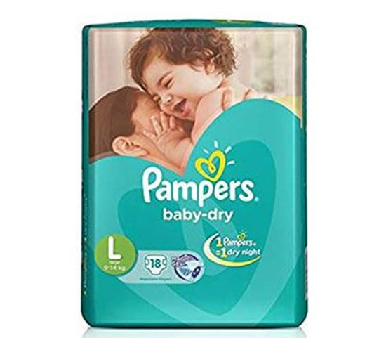 Pampers Tapes Large 18s Diaper (Economy Pack) 9-14 KG - PM0111