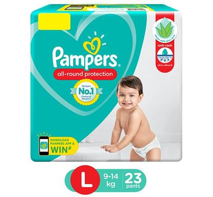 Pampers Diaper Pants All Round Protection Diaper Large 23 Count - PM0116