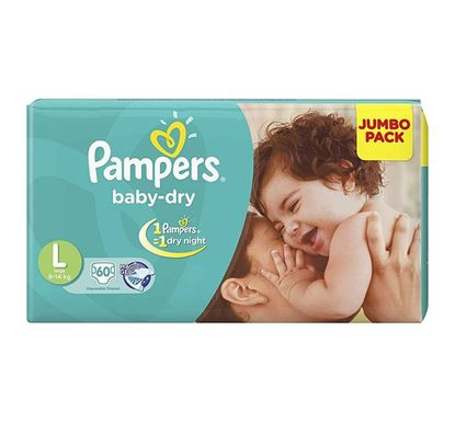 Pampers Tapes Diaper Large 60 (Jumbo Pack) 9-14 KG - PM0108