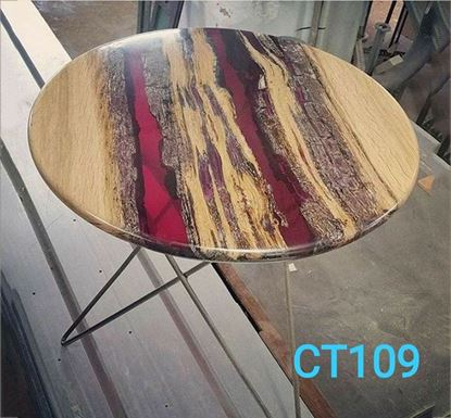 Resin and Wooden Luxury Coffee Table - CT109