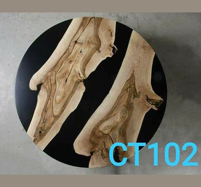 Resin and Wooden Luxury Coffee Table - CT102