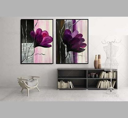 2 Set Painting with Glass Frame Arm 2
