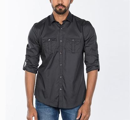 Cotton Twill Shirt for Men BLK RN-FOY-SS20-SM501