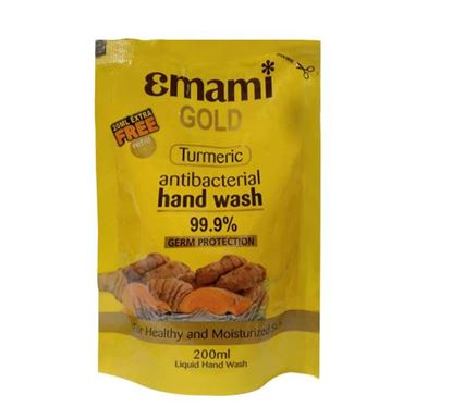 Emami Gold Turmeric Antibacterial Hand Wash (Pouch) - 200ml