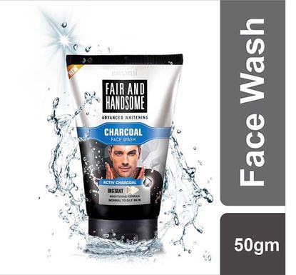 Emami Fair & Handsome Advanced Whitening Charcoal Face Wash - 50gm