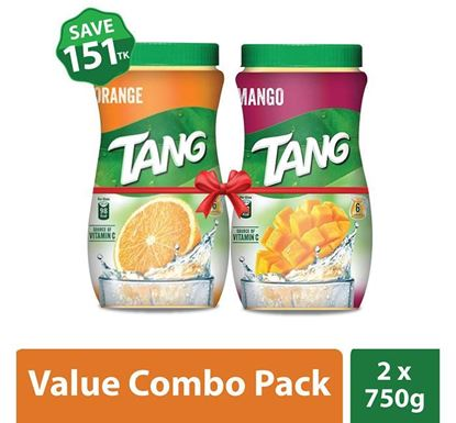 Tang Mango 750 GM & Orange Flavoured 750 GM Instant Drink Powder Combo Offer