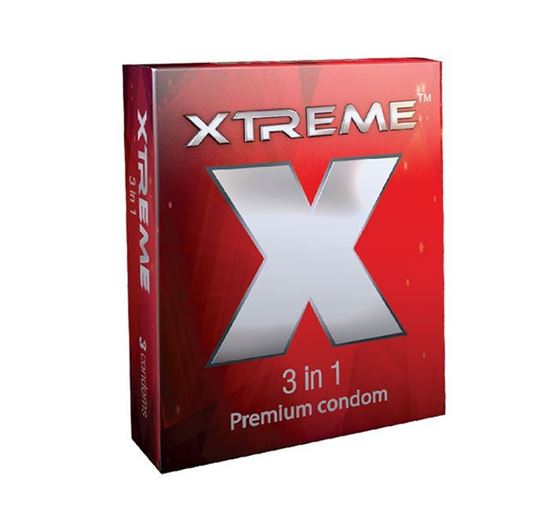 Xtreme 3 in 1 Condom - 3 Pieces Pack