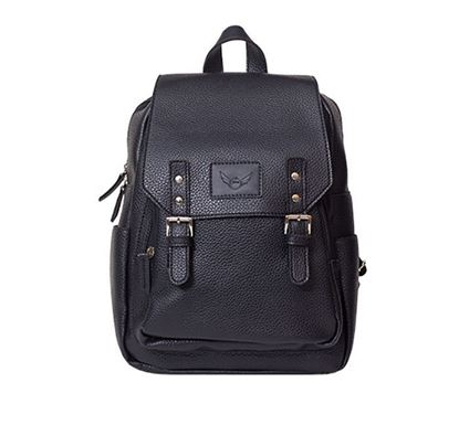 Leather Backpack for Ladies RB-102 BLK