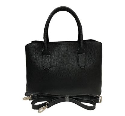 Leather Hand Bag for Ladies RB-105 BLK