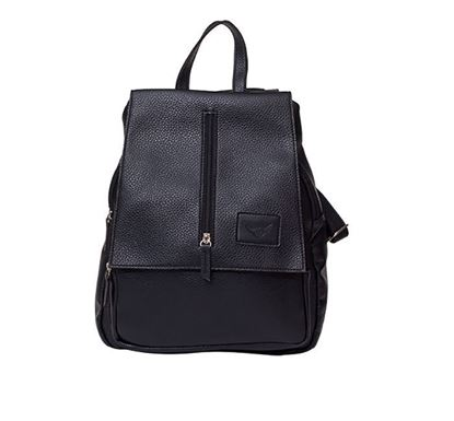 Leather Backpack for Ladies RB-115 BLK
