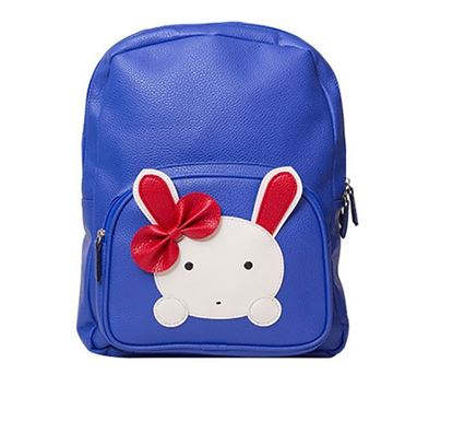Leather Backpack for Kids RB-117 BLU