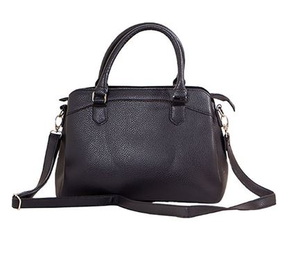 Leather Hand Bag for Ladies RB-131 BLK