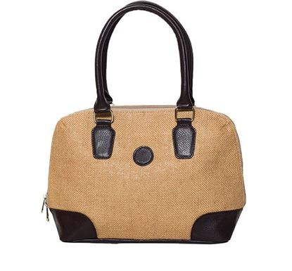 Jute & Leather Hand Bag for Ladies RB-132