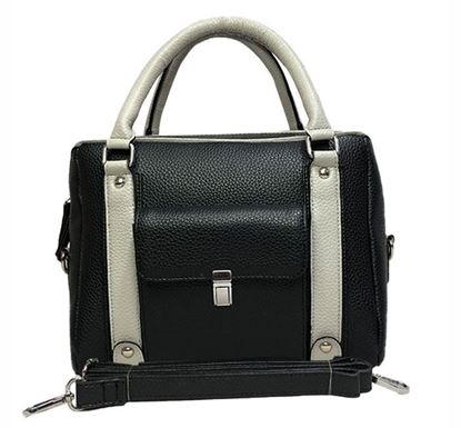 Leather Hand Bag for Ladies RB-316 BLK