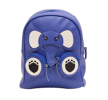 Leather Backpack for Kids RB-201 BLU