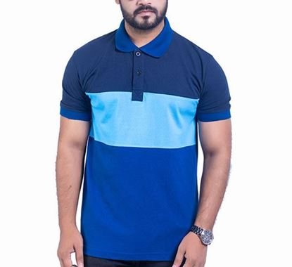 Half Sleeve Striped Polo T-shirt for Men - PS07