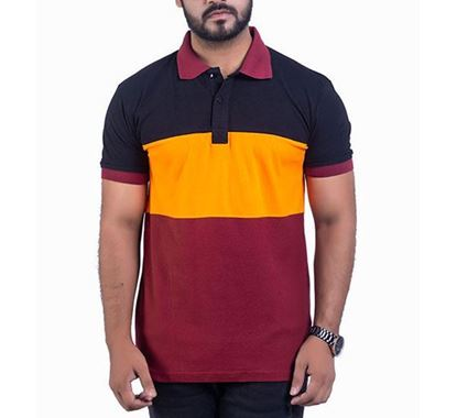 Half Sleeve Striped Polo T-shirt for Men - PS09