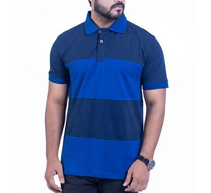 Half Sleeve Striped Polo T-shirt for Men PS10