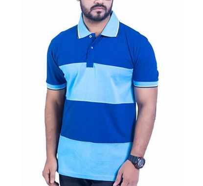 Half Sleeve Striped Polo T-shirt for Men - PS11