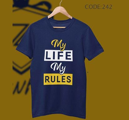 My Life My Rules Half Sleeve Cotton T-shirt ZNTH-242