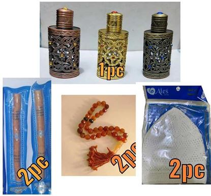Miswak, Tupi, Crystal Tasbih & Attar for Men Combo 2