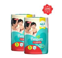 Pampers Baby Dry Pants Diaper S 4-8kg - 8 Pieces (PM0036) (2 Pieces Combo)