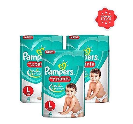 Pampers Pant Large 4s (9-14 KG) - PM0003 (3 Pieces Combo)