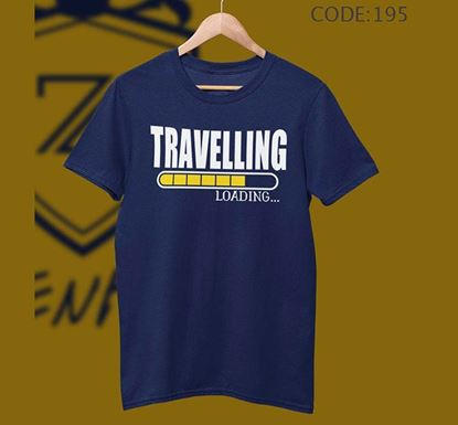 Travelling Loading Half Sleeve Cotton T-shirt ZNTH-195