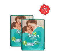 Pampers Tapes Large 18s Diaper (Economy Pack) 9-14 KG - PM0111 (2 Pieces Combo)